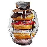 Niños Sudaderas con Capucha 3D Imprimieron suéter para Pullover HoodieFood Burger Print Hoodie...