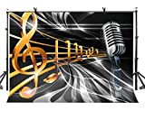 LYLYCTY 7x5ft Dream Music Backdrop Dream Music Symbol Microphone Photography Background and Dream Music Party Backdrop Props LYLX285