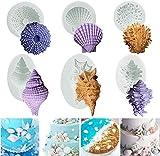 Ozean Tiere Kuchen Silikon Fondantform 3D Seestern Muschelschale Kuchen Dekorieren Praline Seife...