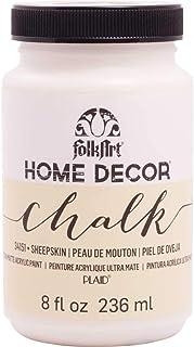 FolkArt PL34151 34151 Home Decor Chalk Paint Ultra Matte Sheepskin, 8 oz, Ivory