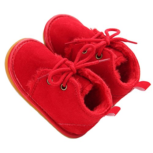 Baby Girls' Boys' Cowboy Tassel Boots Red 6-12 Months