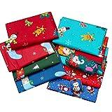 su-xuri 8 Stück 50 x 50 cm Weihnachten reine Baumwolle