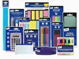 56 pc Stationery Set Back to School and office Highlighter Calculator Ruler Pen Pencil Memo