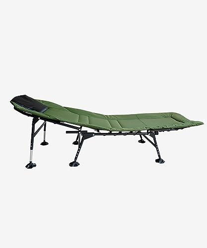 LIANJUN Camping grand Bed Chair Accessoires étanches et de pêche Chaise de Plage Army vert-L  W  H170  60  32-42cm (réglable)