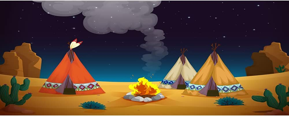 AOFOTO 12x6ft It is very popular Cartoon Summer Camping for Phoenix Mall Photography De Backdrop