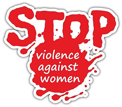 SkyLabel International Day for The Elimination of Violence Against Women Bumper Sticker Vinyl Art Decal for Car Truck Van Wall Window (10'' X 8'')