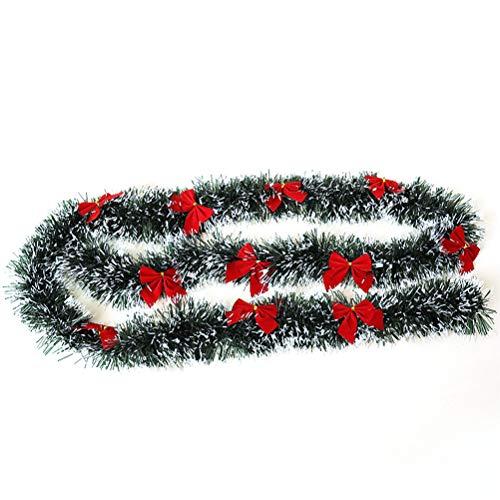 Weihnachts Girlande, Weihnachtskamin Bowknot Kranz Künstliche Tannen Girlande Weihnachtsrattan Girlanden Weihnachtsverzierung Girlande
