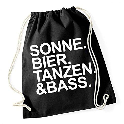 Certified Freak Sonne Bier Tanzen Bass Gymsack Black