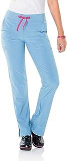 Smitten Women's Hottie Flare Leg Scrub Pant - Blue - XX-Small