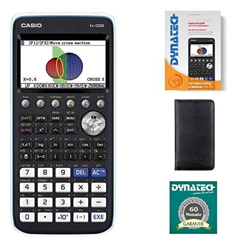 Casio Taschenrechner FX-CG 50 Grafikrechner + Schutztasche + Buch Garantie auf 60 Monate - wissenschaftlicher Schulrechner nicht programmierbar Tasten elektronisches Farbdisplay Schule Abitur Batterie