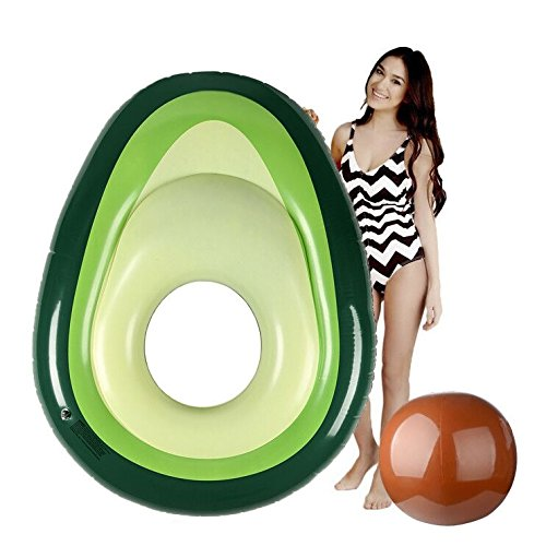 Jycra Aufblasbare Luftmatratze aus PVC für Strand, Schwimmbad und Pool, ideal für Freizeit, Erholung und Sommerpartys am Wasser, für Erwachsene und Kinder geeignet., avocado, 64.96x51.18inch