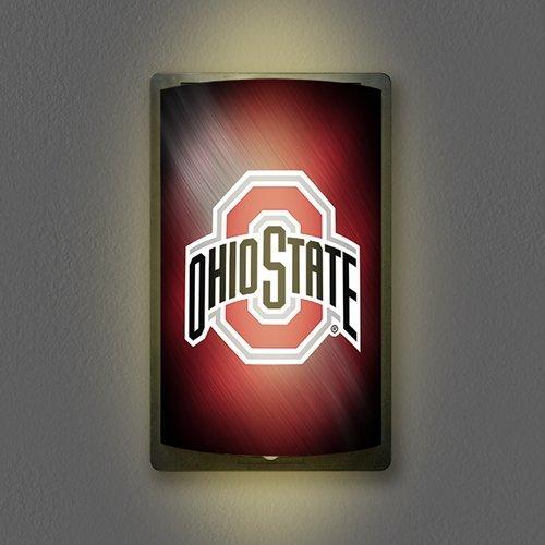 "Party Animal NCAA Ohio State Buckeyes Unisex Ohio State Buckeyes MotiGlow Shade/Sleeve - Wall Light - Mancave Light, Team Color, 12.5"" x 7.5"""