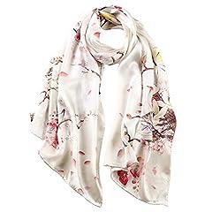 Idea Regalo - STORY OF SHANGHAI donna sciarpa scialle silenziatore di seta di gelso grande quadrati involucri di seta pura