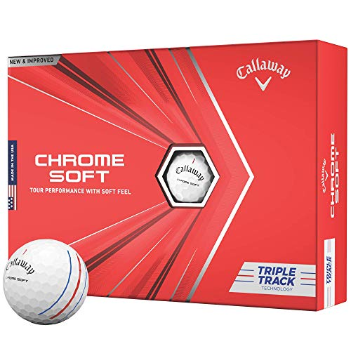 2020 Callaway Chrome Soft Golf Balls (Triple Track White)