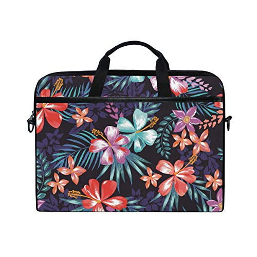 EZIOLY Colored Floral Laptop Shoulder Messenger Bag Case Sleeve for 13 Inch to 14 inch Laptop