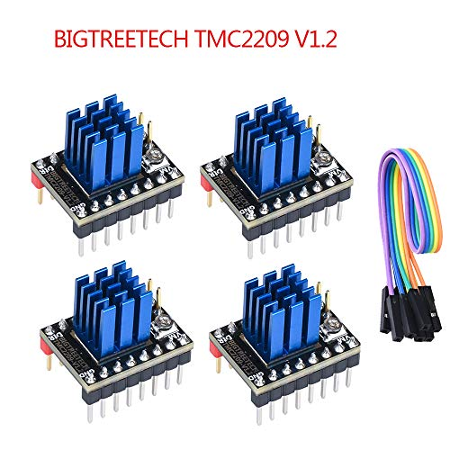 PoPprint TMC2209 V1.2 Schrittmotortreiber StepSticks VS TMC2208 TMC2130 für die 3D-Druckerkarte der Serie SKR V1.3 MKS (TMC2209 V1.2 4 Stück)