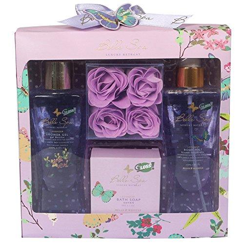 Coffret cadeau beauté pour femme - spécial bain fleuri -Collection BELLE SPA - Lavande