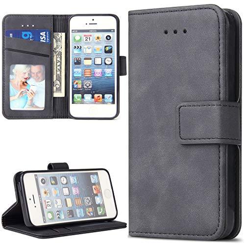 Lelogo Handyhülle für Samsung M51 Hülle, Galaxy M51 Lederhülle Handytasche, Klapphülle Tasche Leder Schutzhülle für Samsung Galalxy M51 Phone 6.7 Zoll (Grau)