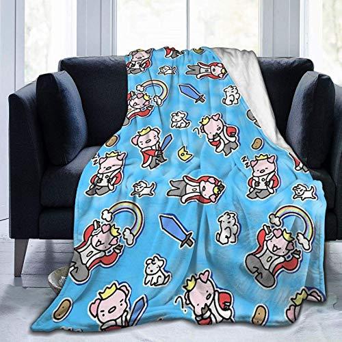 Anganganiel Mantas para Cama Anti-Pilling súper Suave y cómoda Tec-hno-Blade Regalo de cumpleaños para niños Adultos Navidad Decoración de Halloween 125 × 100 cm