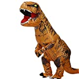 WitHelper Dinosaur Inflatable Costumes Tyrannosaurus Rex Adult Halloween Funny Clothes Child (Adult)