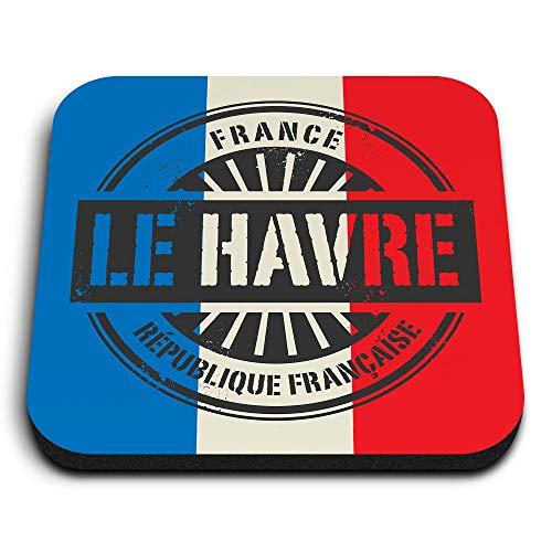 Destination Vinyl ltd Impresionantes imanes cuadrados MDF – Française Le Havre Francia Francés para oficina, armario y pizarra blanca – Pegatinas magnéticas 7384