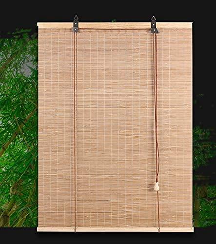LLPEIJIE026 Estor de bambú,Estor Enrollable de Bambú Natural,Persiana de Bambú para Interior,Cortina de Madera Persiana Enrollable,Hogar Sombra,Fácil De Limpiar Y Colgando (100x240cm/39x95in)