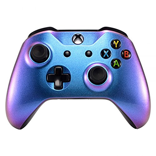 eXtremeRate Purple and Blue Chameleon Front Housing Shell Faceplate for Microsoft Xbox One X & One S Controller Model 1708 - Controller NOT Included