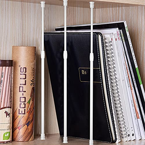 3Pcs Tension Rod 18 to 28 inch Spring Tension Rod Small Curtain Rod Short Curtain Rod White Expandable Spring Rod Tension Curtain Rods Spring Tension Curtain Rod Pressure Rod Kitchen Curtains Rods