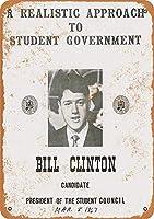 ビル・クリントン 金属板ブリキ看板警告サイン注意サイン表示パネル情報サイン金属安全サイン