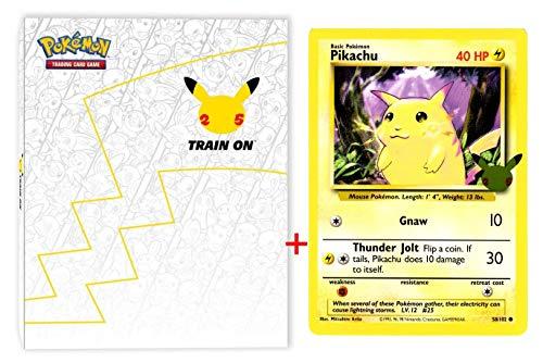 Pokemon 25th Anniversary First Partner Collector's Binder for Jumbo Cards + Pikachu Jumbo