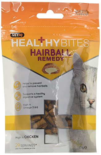 VetIQ Healthy Bites Hairball Remedy For Cats and Kittens 65g - Pack of 8
