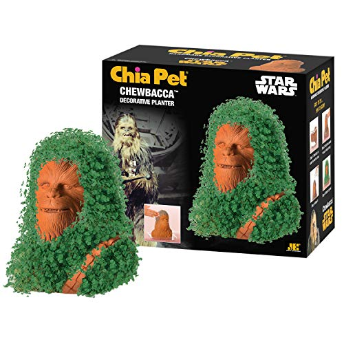 Chia CP430-01 Pet Star Wars Chewbacca with Seed Pack, Decorative Pottery Planter Easy to Do and Fun to Grow, Novelty Gift, Perfect for Any Occasion, Terra Cotta