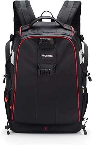 new arrival SlingStudio new arrival Backpack – Backpack with sale Padded Pockets for Equipment and Devices - Black outlet online sale