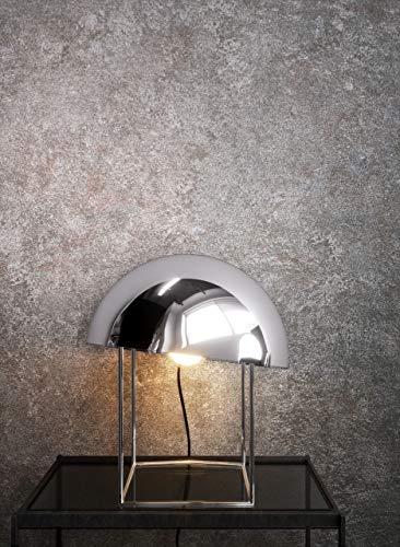 NEWROOM Tapete Grau Vliestapete Beton - Betontapete Uni Putz Modern Industrial Betonoptik Putzoptik inkl. Tapezier-Ratgeber