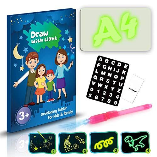 Steadyuf Lavagna Luminosa Fluorescente, Tavolo da Disegno Portatile Hi-Tech, Disegna, scarabocchia, Crea Arte, scrivi per i Bambini