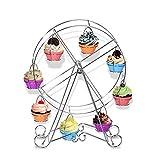 Unique 8tazza di acciaio inox girevole ruota panoramica Cup Cake dessert supporto portabicchieri