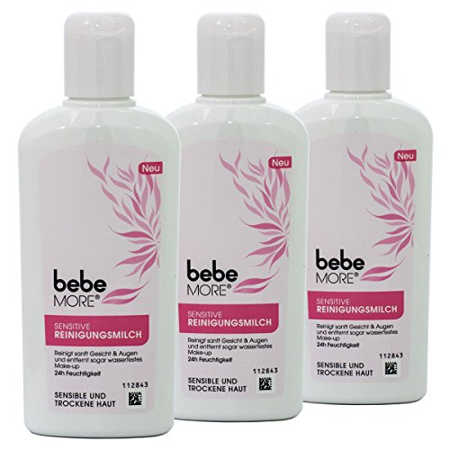 Bebe more Sensitive Reinigungsmilch - entfernt wasserfestes Make-up - 3x 200 ml