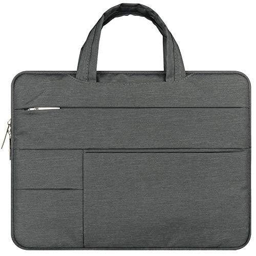 Maletín para Portátil, 11-15.6 Pulgadas Funda Protectora Impermeable de Notebook Laptop para MacBook Pro/Pro Retina/Acer/ASUS/DELL/Lenovo/HP,Gris Oscuro