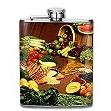 Lebensmittel Mode tragbare Edelstahl Flachmann Whisky Flasche für Männer und Frauen...