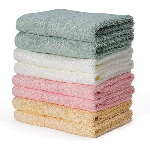 Yoofoss Asciugamani per Gli Ospiti Bambini 8-Pack Asciugamani Viso, 33x33cm Asciugamano di bambù Asciugamani per Gli Ospiti Lavabili in Lavatrice Asciugamani