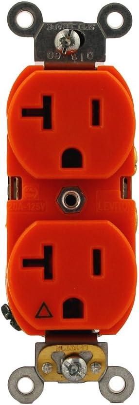 Leviton Rare 5362-IG 20-Amp 125 Volt S Industrial Series Heavy New item Duty