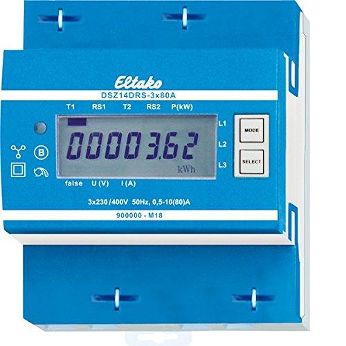 Eltako DSZ14DRS-3x80A RS485-Bus-Funk-Drehstromzähler MID, 400 V