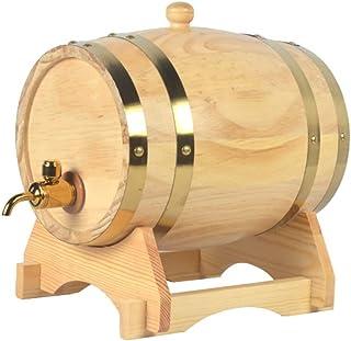 Tonneau en Chêne de 1,5 Litre, Distributeur de Tonneau à Whisky en Bois pour Conserver Le Vin à L'alcool de Brandy (Color...