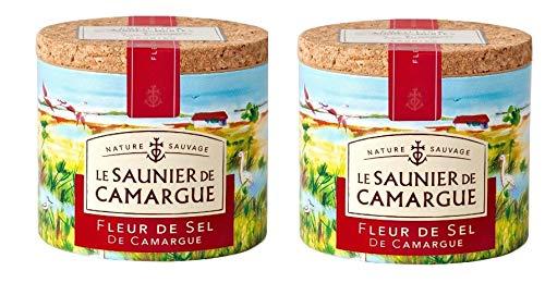 Le Saunier De Camargue Fleur De Sel (Sea Salt), 4.4 oz (Two pack)