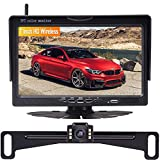 Wireless Backup Camera HD Kit,AMTIFO 7 Inch Monitor with 2 Video Channels Designed for Cars,SUVs,Minivans,Super Night Vision,DIY Guide Lines