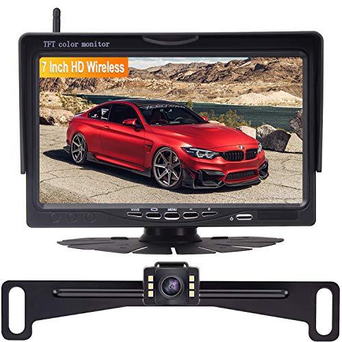 Amtifo Wireles Backup Camera Kit,HD 720P 7 Inch Monitor With Rear View Camera Designed For Cars,SUVs,Minivans,Pickups
