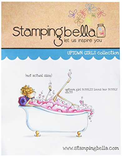 Stamping Bella Uptown Girl Bubbles Loves Her Bubbly Cling Rubber Stamp, 6.5 x 4.5