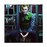 Joker Schauspieler Heath Ledger Leinwand-Poster, Wandkunst,