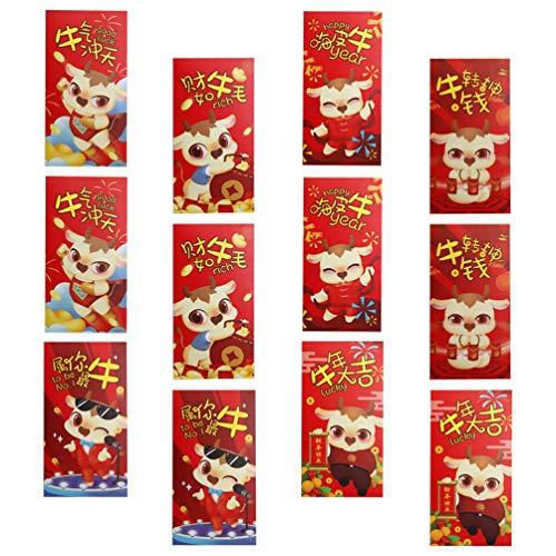 Amosfun 36 chinesische rote Umschläge...