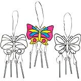 """Baker Ross Suncatcher-Windspiele """"Schmetterlinge"""" - aus Acrylglas zum Aufhängen und Dekorieren für Kinder zum Basteln (3 Stück)"""